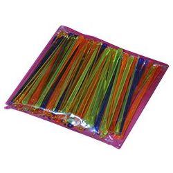 Palillos plástico 8cm multicolor, 100u