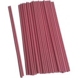 Palo plástico rosa 25cm x 5mm, 100u