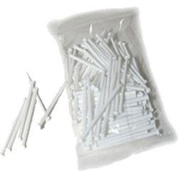 Pinchito plástico blanco, 7cm, 100u