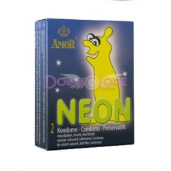 Condones Neon, 2u, Amor
